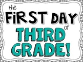 First Day of 3rd Grade Signs [FREEBIE!]