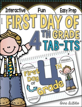 First Day of 4th Grade Tab-Its™
