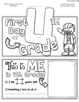 First Day of 4th Grade Tab-Its®