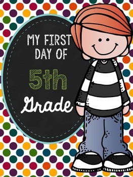 First Day of 5th Grade Poster Freebie
