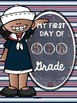First Day of 5th Grade Poster Freebie Nautical Theme