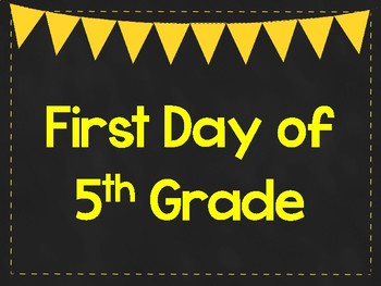 graphic about First Day of 5th Grade Printable referred to as Initial Working day of 5th Quality Printable Posters. Initially Working day of University Signs and symptoms. 6 Hues.