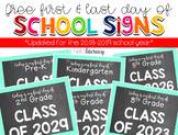 """First Day  & Last Day of {Any} Grade"" School Photo Signs [for students to hold]"