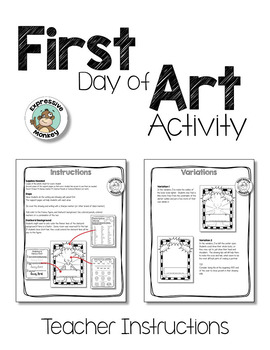 Art Lesson: First Day of Art Activity Sheet