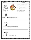 First Day of Art Printable