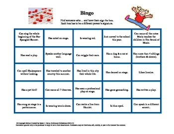 First Day of Class Bingo - Icebreaking Activity