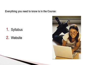 First Day of Class PowerPoint