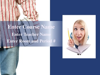 First Day of Class PowerPoint Template for Grades 7-12