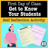 First Day of Class Self Reflection: Get to Know Your Students