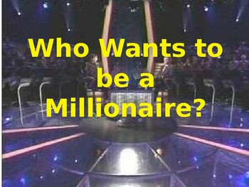 First Day of Class - Who Wants to be a Millionaire