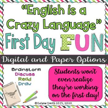 "First Day English Fun - ""English is a Crazy Language"""