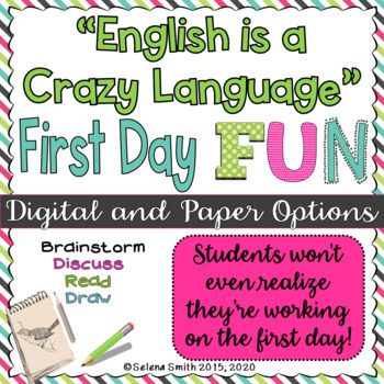 "First Day or Any Day English Fun - ""English is a Crazy Language"""
