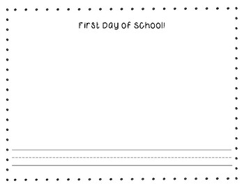 First Day of First Grade Activity