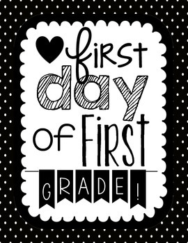 First Day of First Grade Book