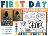 First Day of First Grade Coloring Page