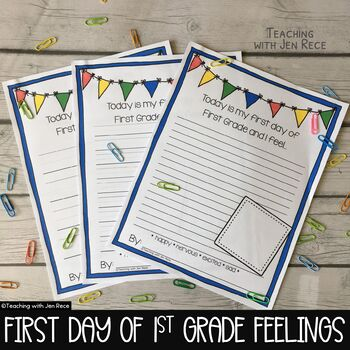 First Day Jitters: First Grade Emotions / Back to School Jitters