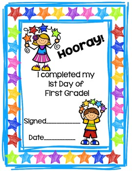 First Day of First Grade Activity Pack