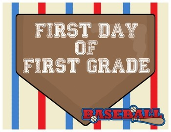 First Day of First Grade Poster