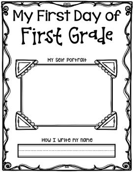 First Day of First Grade Self Portrait