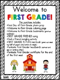 First Day of First Grade Set