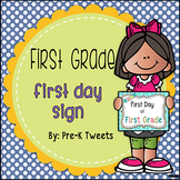 First Day of First Grade Sign - Polka Dot