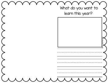 First Day of First Grade Student Booklet