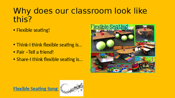 First Day of Flexible seating Powerpoint
