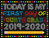 First Day of Fourth Grade Digital File 8.5x11