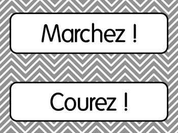 First Day of French Lesson 1: Classroom Commands/Les Ordres Printables