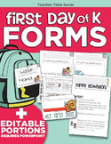 First Day of K Forms {Kindergarten}