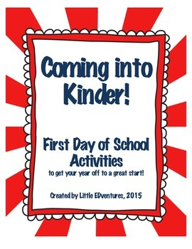 First Day of Kinder Activities