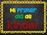 First Day of Kinder Spanish Sign