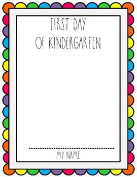 First & Last Day of Kindergarten