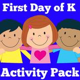 Kindergarten First Day of School | Activities