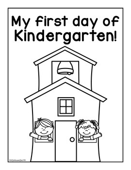 First Day of Kindergarten: Activity Book