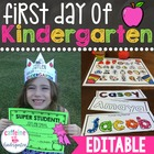 First Day of Kindergarten Lesson Plans, Activities for the WHOLE DAY, and Awards