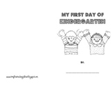 First Day of Kindergarten Book