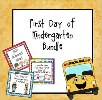 First Day of Kindergarten Bundle