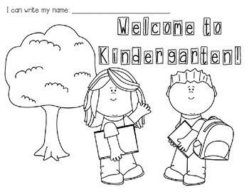 First Day of Kindergarten Coloring Sheet