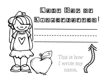 First Day of Kindergarten (Coloring Sheet)