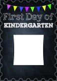 First Day of Kindergarten Cover Page Photo Frame