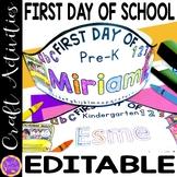 First Day of Kindergarten Crown   First Day of School Hat