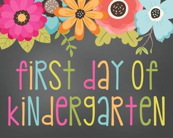 First Day of Kindergarten Digital Sign