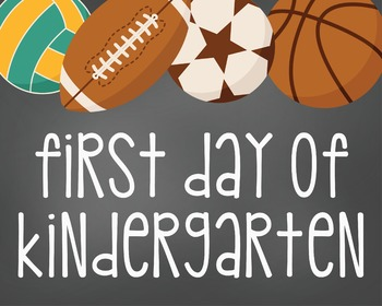 First Day of Kindergarten Digital Sign