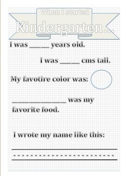 First Day of Kindergarten (EDITABLE)