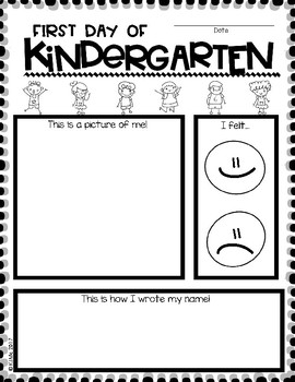 First Day of Kindergarten - Easy Graphic Organizers