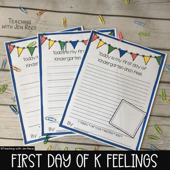 First Day Jitters: Kindergarten Emotions / Back to School Jitters