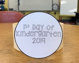 First Day of Kindergarten Hat | FREEBIE