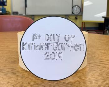 First Day of Kindergarten Hat | FREEBIE