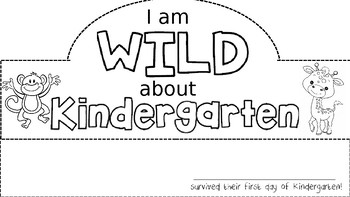 First Day of Kindergarten Hat (Safari Theme)